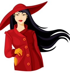 lady in hat vector image