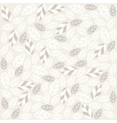 seamless plant pattern with fabric texture vector image vector image