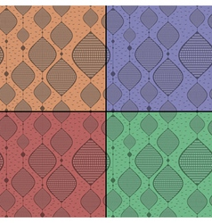 Set of four decorative seamless pattern vector image
