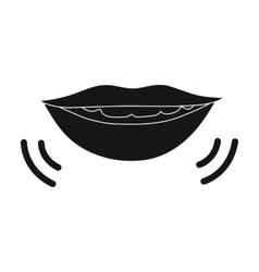 Speaking mouth icon in black style isolated on vector
