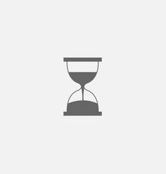 Symbol of hourglass web line icon vector