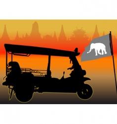 tuktuk vector image vector image