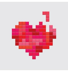 valentines day card video game red heart vector image vector image