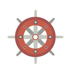 Yacht wheel vector image vector image