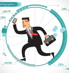 Businessman active vector image vector image