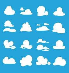 clouds shapes vector image vector image