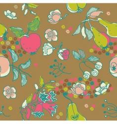 fruit garden seamless pattern vector image