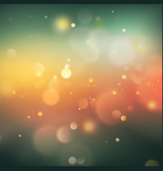 green bokeh abstract background eps 10 vector image vector image