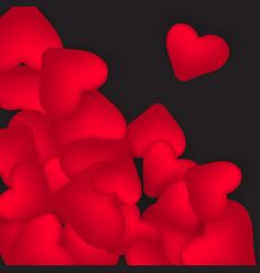 happy valentines day romantic design elements on vector image vector image
