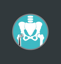 hip replacement logo icon design vector image vector image