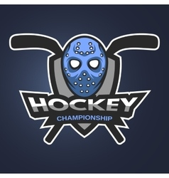Hockey goalie mask with sticks vector image vector image