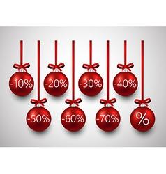 Sale christmas balls vector image vector image