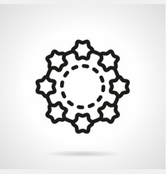 Shell beads simple line icon vector