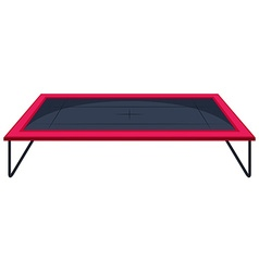 Trampoline with red edge vector