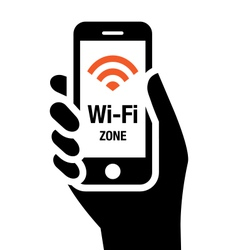 Wi-Fi zone vector image vector image