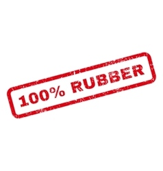 100 Percent Rubber Text Rubber Stamp vector image