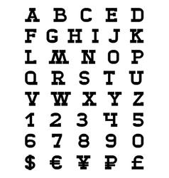 aFontVer1 vector image