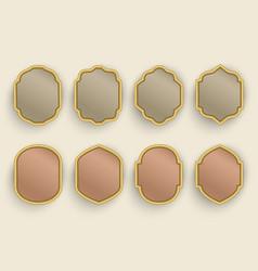 Arabic frame template vector