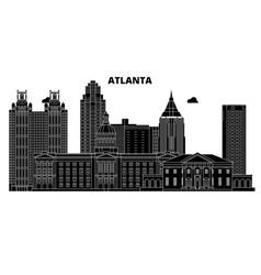 Atlantaunited states skyline travel vector