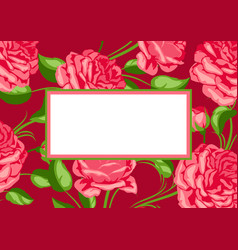 Background with red roses beautiful decorative vector