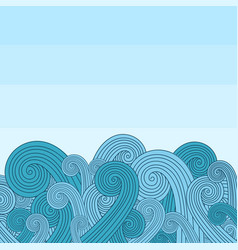 Background with waves on the sea vector