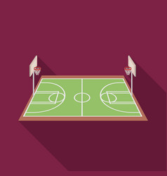 Basketball courtbasketball single icon in flat vector