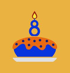 Birthday card design vector
