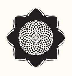 Black flower 0004 vector