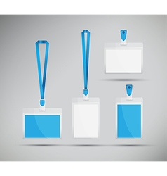 Blue lanyards vector