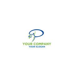 Body pilates logo design vector