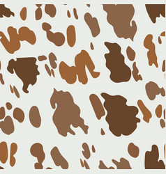 brown cow pattern seamless texture domestic vector image