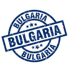 Bulgaria blue round grunge stamp vector