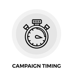 Campaign Timing Icon vector image