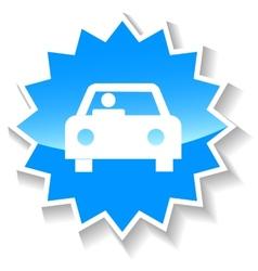 Car blue icon vector image