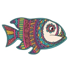 Card with fish Frame of animal made in vector image