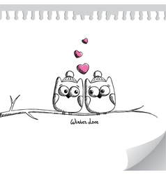 card with owls vector image