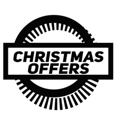 Christmas offers stamp on white vector