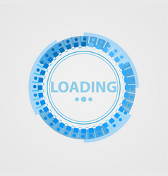 Circular loading sign in a futuristic style vector