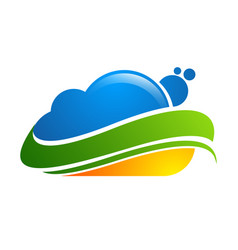 cloud logo design icon element vector image