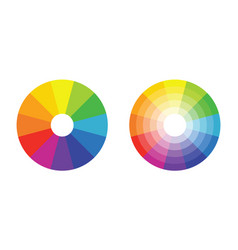 color wheel with twelve colors in gradiations vector image