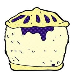 Comic cartoon meat pie vector