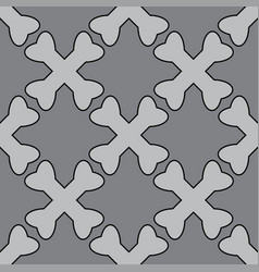 crossed bones pirate seamless pattern gray colors vector image