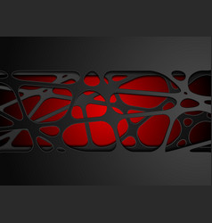 dark red abstract tech corporate paper cut vector image