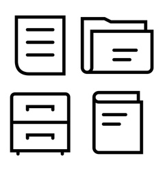 Documents thin set vector image