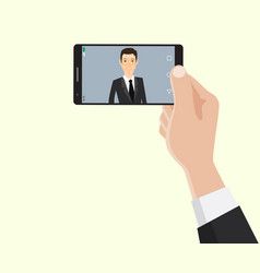 face recognition id technology with business man vector image