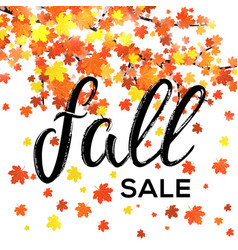 fall sale design seasonal discount autumn poster vector image