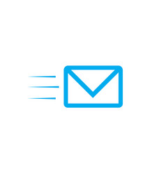 fast mail email sms icon email icon fyling vector image
