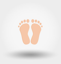 feet icon flat vector image