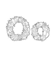 flower alphabet the letter o vector image vector image