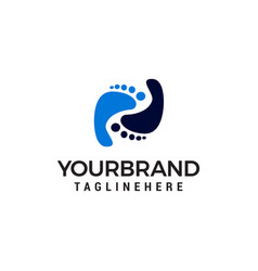 Foot care logo design concept template vector
